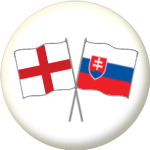 England and Slovakia Friendship Flag 25mm Pin Button Badge